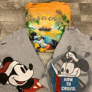 3 Mickey Mouse Disney cruise line T-shirts medium